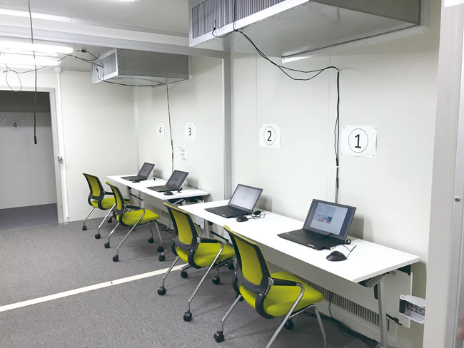 inside test room